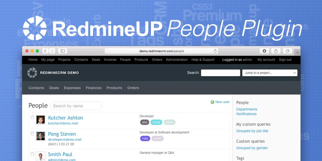 Redmine People plugin