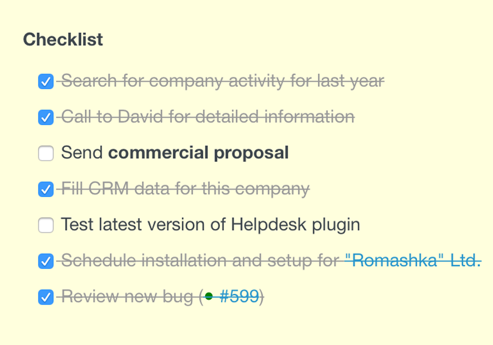 redmine checklists plugin from redmineup