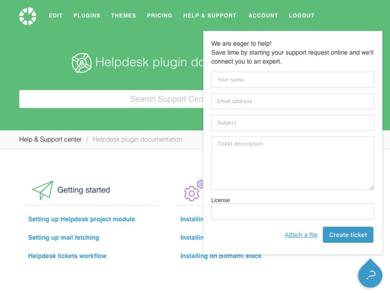 Redmine Helpdesk plugin