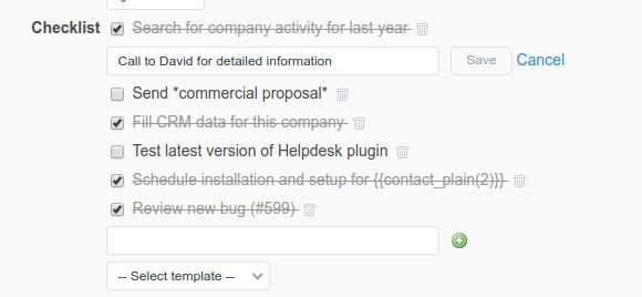 Add checklist items | Checklists plugin documentation