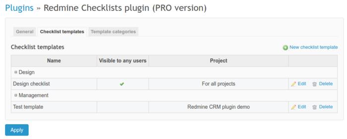 Checklists settings | Checklists plugin documentation