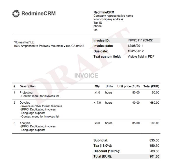 Invoice Templates Invoices Plugin Documentation