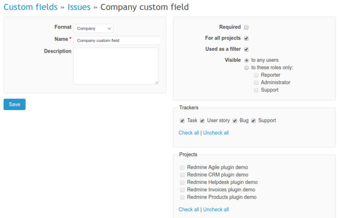 Why I can't create company custom field with light version