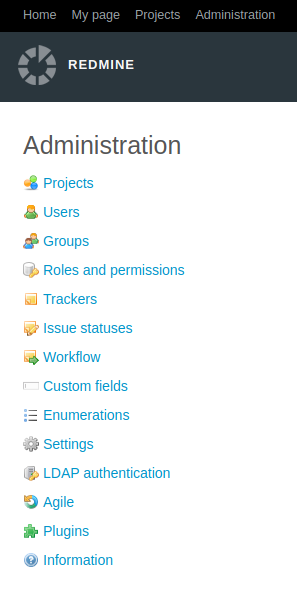 Redmine Administration page | Redmine Help & Support